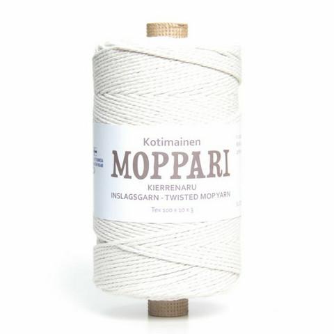 Makramee-lanka - Luonnonvalkoinen Moppari - Ø 3 mm - n. 310 metriä