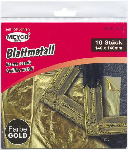 Metallifolioarkit - 15x15 cm - 10 kpl - Kulta