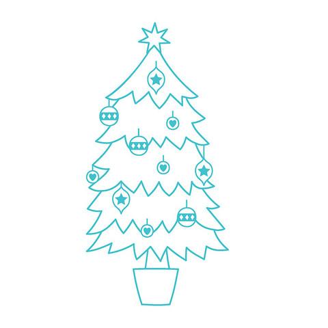 Leimasin - 6 cm - Joulukuusi