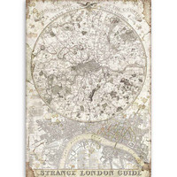 Decoupage-arkki - A4 - Lady Vagabond Strange London Guide