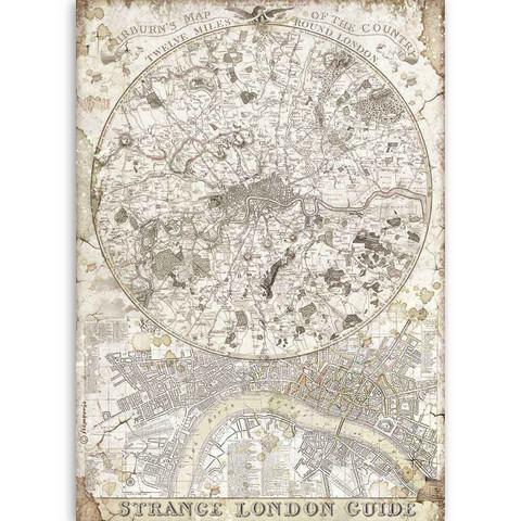 Decoupage-arkki - A4 - Lady Vagabond Strange London Guide