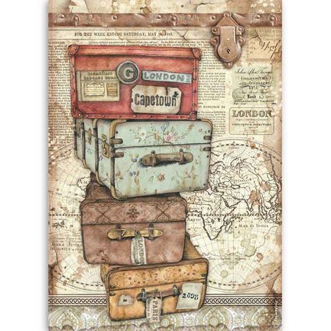 Decoupage-arkki - A4 - Lady Vagabond Luggage