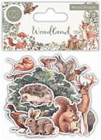 Vanerikoristeet - Woodland Printed Wood Shapes