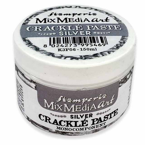 Krakelointitahna hopea - Stamperia Crackle Paste Silver - 150 ml