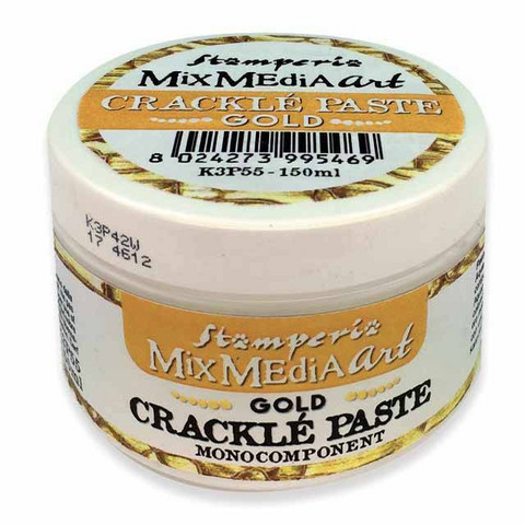 Krakelointitahna kulta - Stamperia Crackle Paste Gold- 150 ml
