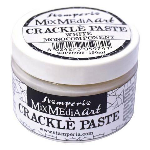 Krakelointitahna valkoinen - Stamperia Crackle Paste White - 150 ml