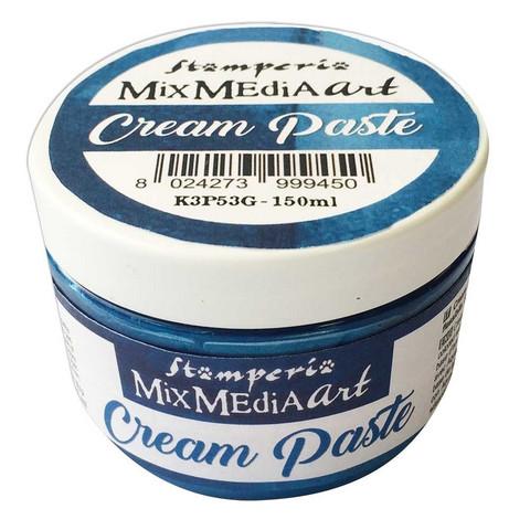 Tekstuuritahna sininen - Stamperia Cream Paste Metallic Blue - 150 ml