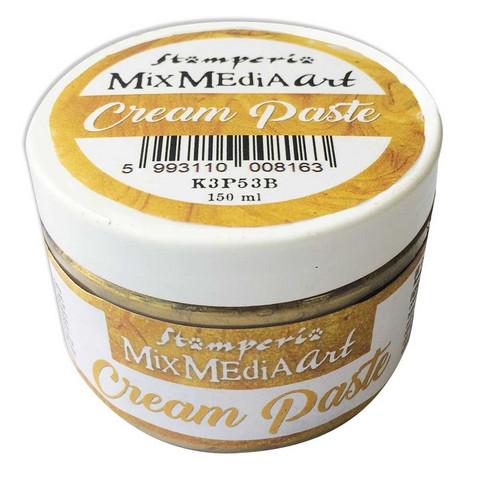 Tekstuuritahna kultainen - Stamperia Cream Paste Gold - 150 ml