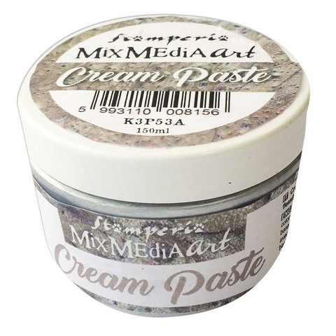 Tekstuuritahna hopeinen - Stamperia Cream Paste Silver - 150 ml