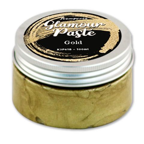 Kimalletahna kultainen - Stamperia Gold Glamour Paste - 100 ml