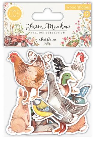 Vanerikoristeet - Animals Printed Wood Shapes