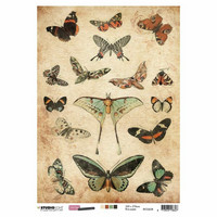 Decoupage-arkki - A4 - Just lou botanical nr.08