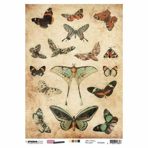 Decoupage-arkki - A4 - Just lou botanical nr.08