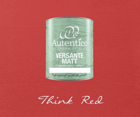 Kalkkimaali - Ajatuksenpunainen - Think Red - Versante Matt - 500 ml