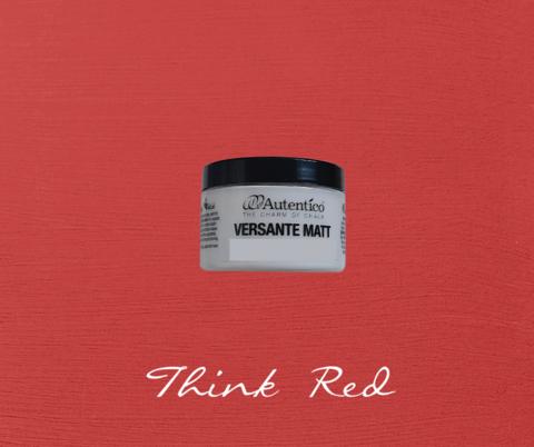 Kalkkimaali - Ajatuksenpunainen - Think Red - Versante Matt - 125 ml