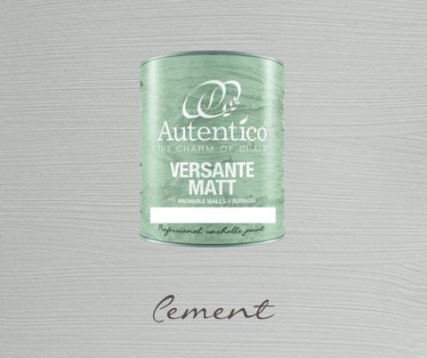 Kalkkimaali - Sementinharmaa - Cement - Versante Matt - 500 ml