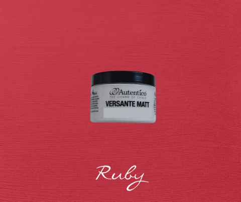 Kalkkimaali - Rubiininpunainen - Ruby - Versante Matt - 125 ml