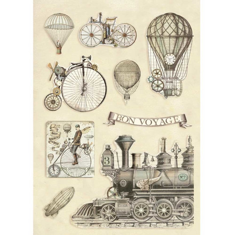 Vanerikoristeet - Levyn koko 14,8 x 21 cm -   Voyages Fantastiques Transport