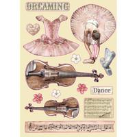 Vanerikoristeet - Levyn koko 14,8 x 21 cm - Passion Violin and Dance