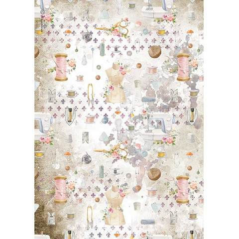 Decoupage-arkki - A4 - Romantic Threads Embellishment