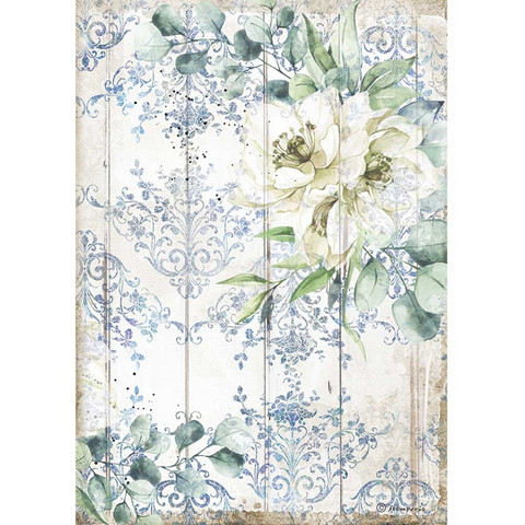 Decoupage-arkki - A4 - Romantic Sea Dream White Flower