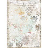 Decoupage-arkki - A4 - Romantic Journal Texture With Lace