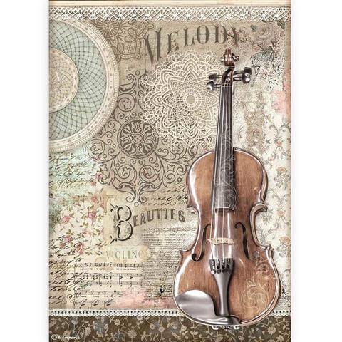 Decoupage-arkki - A4 - Passion Violin