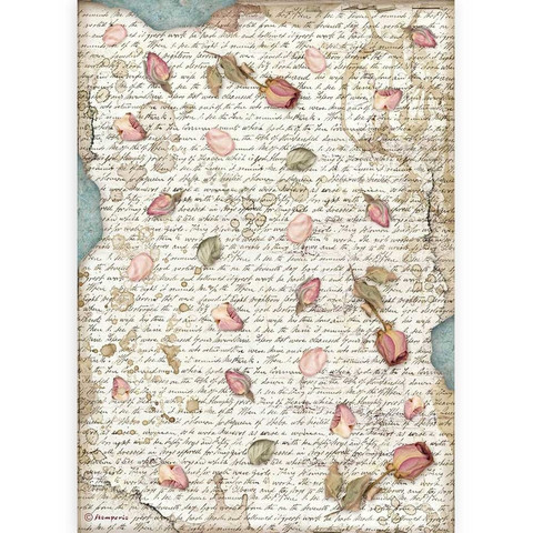 Decoupage-arkki - A4 - Passion Petals