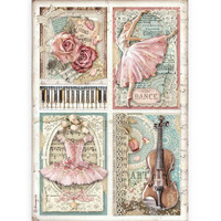 Decoupage-arkki - A4 - Passion Cards