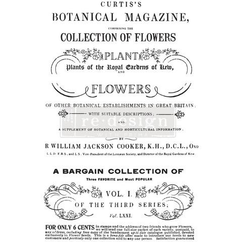 Siirtokuva - 60 x 88 cm - Botanical Magazine - Prima Redesign Decor Transfer