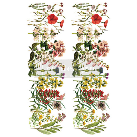Siirtokuva - 60 x 88 cm - The Flower Fields - Prima Redesign Decor Transfer