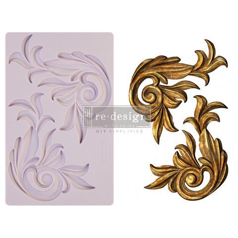 Silikonimuotti - 20x13 cm - Prima Re-Design - Antique Scrolls