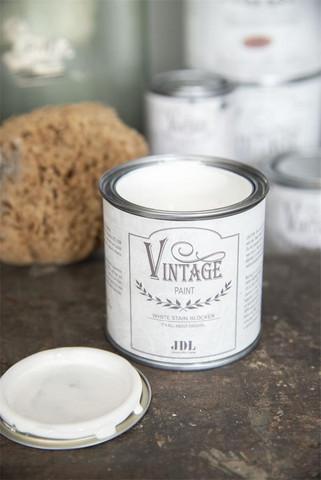 Pohjamaali -  Valkoinen - JDL - Vintage Paint - Stain blocker - 700 ml