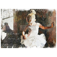 Decoupage-arkki - 59x84 cm - Dancer - Prima Redesign Decor Tissue Paper