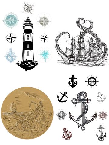 Siirtokuva - 65 x 81 cm - Nautical Life - Belles and Whistles