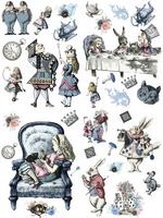Siirtokuva - 63 x 81 cm - Alice in Wonderland - Belles and Whistles