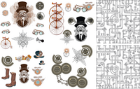 Siirtokuva - 65 x 98 cm - Steampunk - Belles and Whistles