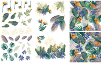 Siirtokuva - 65 x 98 cm - Tropical Leaves - Belles and Whistles