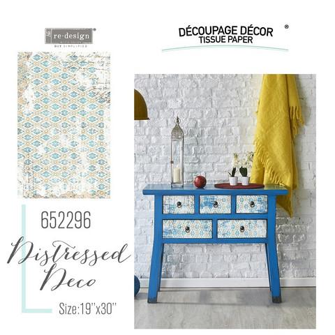 Decoupage-arkki - 48x76 cm - Distressed Deco - Prima Redesign Tissue Paper