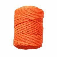 Makramee-kierrenaru 5 mm - Kirkas oranssi