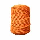 Makramee-kierrenaru 5 mm - Oranssi