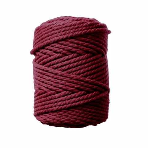 Makramee-kierrenaru 5 mm - Viininpunainen
