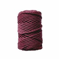 Makramee-kierrenaru 3 mm - Viininpunainen