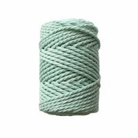 Makramee-kierrenaru 3 mm - Vaaleanvihreä