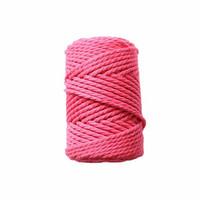 Makramee-kierrenaru 3 mm - Pinkki