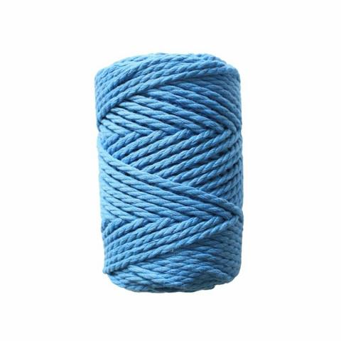 Makramee-kierrenaru 3 mm - Sininen