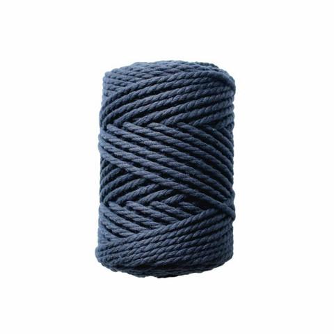 Makramee-kierrenaru 3 mm - Tummansininen