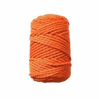 Makramee-kierrenaru 3 mm - Kirkas oranssi