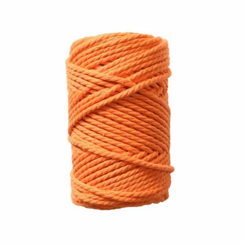 Makramee-kierrenaru 3 mm - Oranssi