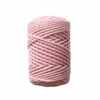 Makramee-kierrenaru 3 mm - Vaaleanpunainen